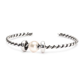 Trollbeads Pearl Twisted Bangle