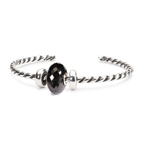 Trollbeads Espresso Noir Twisted Silver Bangle