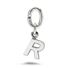 X Jewellery Letter R, Silver Charm