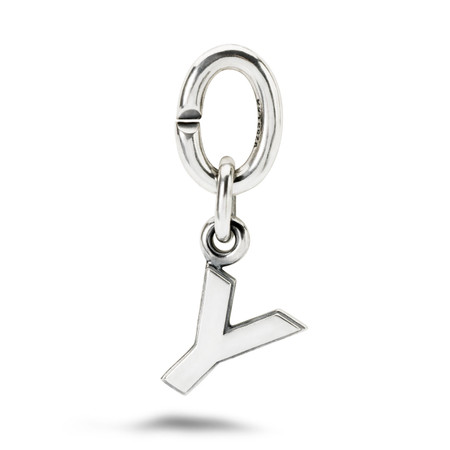 X Jewellery Letter Y, Silver Charm