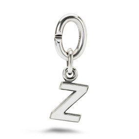 X Jewellery Letter Z, Silver Charm