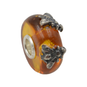 Trollbeads Double Wings of Amber