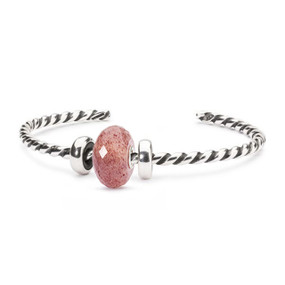 Trollbeads Strawberry Quartz Twisted Bangle