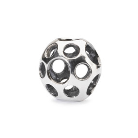Trollbeads Puddles, Silver Charm, Front