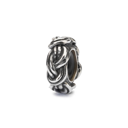 Trollbeads Savoy Knot Spacer, Silver Charm