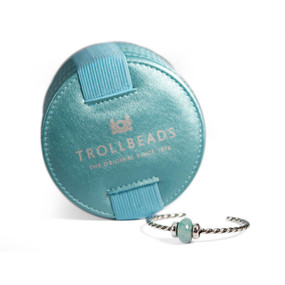 Trollbeads Minty Macaroon Twisted Bangle With Case