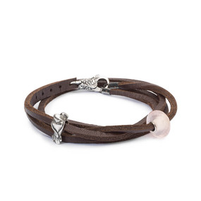 Trollbeads Lovebirds Leather Bracelet