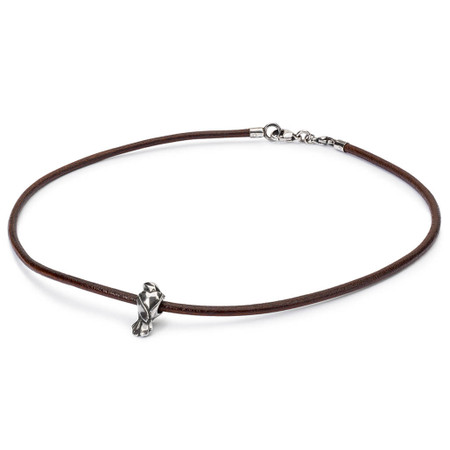 Trollbeads Love Birds Brown Leather Necklace