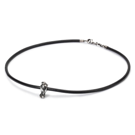 Trollbeads Leather Black Leather Necklace