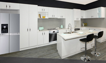 kitchen featuring our white cabinets