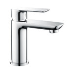 Sleek Chrome Basin Mixer