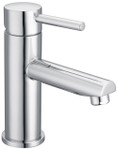 Chrome basin mixer with pin handle