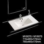 Vanity Top with Basin - Ceramic 760mm wide
