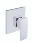 Sun  Shower Mixer - Chrome Square with 3mm thin back plate
