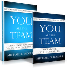 Bundled Deal! You Are the Team—6 Simple Ways Teammates Can Go from Good to Great book and companion self-study workbook.