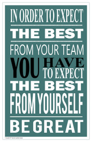 Be Great 11 x 17 Poster FREE SHIPPING