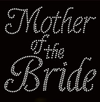 Mother Of The Bride Cursive Rhinestone Transfer Iron on