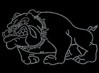 BullDog Full body Clear Outline Rhinestone Transfer
