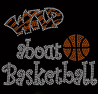 Wild About Basketball Rhinestone Transfer Iron on