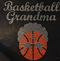 Basketball Grandma Rhinestone Transfer Iron on