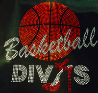 Large Basketball Divas Rhinestone Transfer