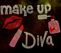 Makeup Diva (Full) Rhinestone Transfer Iron on