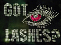 Got Lashes (FUCHSIA Hot Pink) Eye Rhinestone Transfer