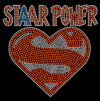 Super Staar Power School Rhinestone transfer