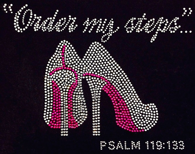 Order My Steps Fuchsia Heels Stiletto Psalm 119 133