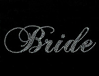 Bride SS Rhinestone Transfer Iron on