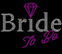 Bride To Be (with fuchsia diamond) Rhinestone Transfer