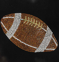 "10.4"" Football ball Rhinestone Transfer Iron on"