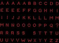 "0.6"" Small Bold Letter RED Alphabet Rhinestone Transfer"