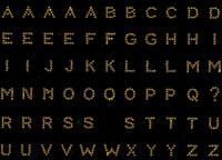 "0.6"" Small Bold Letter TOPAZ Alphabet Rhinestone Transfer"