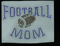 Football Mom Ark (Cobalt) Rhinestone Transfer