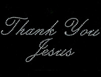 Thank You Jesus Religious Rhinestone Transfer