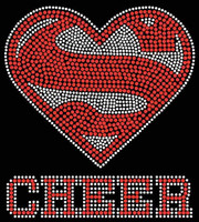 Super Cheer Rhinestone Transfer Iron on