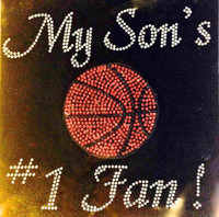 My Son's Basketball #1 fan New Rhinestone Transfer