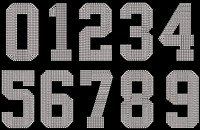 "(whole Sheet) 5"" Sports Number Rhinestone Transfer"