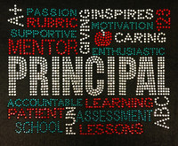 PRINCIPAL Words Mentor Words School Rhinestone transfer