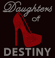 Daughters of Destiny Heel Stiletto Religious Rhinestone transfer