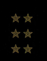 "(Set of 6) 1.5"" Star (GOLDEN TOPAZ) Rhinestone Transfer"