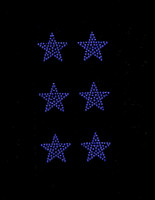 "(Set of 6) 1.5"" Star (COBALT BLUE) Rhinestone Transfer"