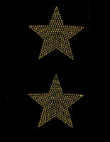 "(2 qty) 4"" Star (GOLDEN TOPAZ) Rhinestone Transfer"