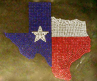 Texas Map Rhinestone Transfer Iron On