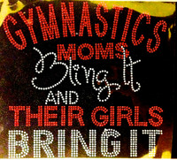 Gymnastics Moms bling it and their Girls bring it RED Rhinestone Transfer