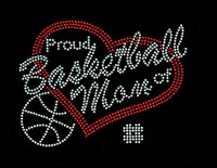 Proud Basketball Mom Rhinestone Transfer