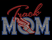 Track Mom Rhinestone Transfer Iron on