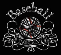 Baseball Mom Banner New Rhinestone Transfer