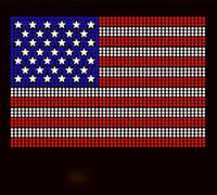 USA Flag Star 4th of July Rhinestone Transfer